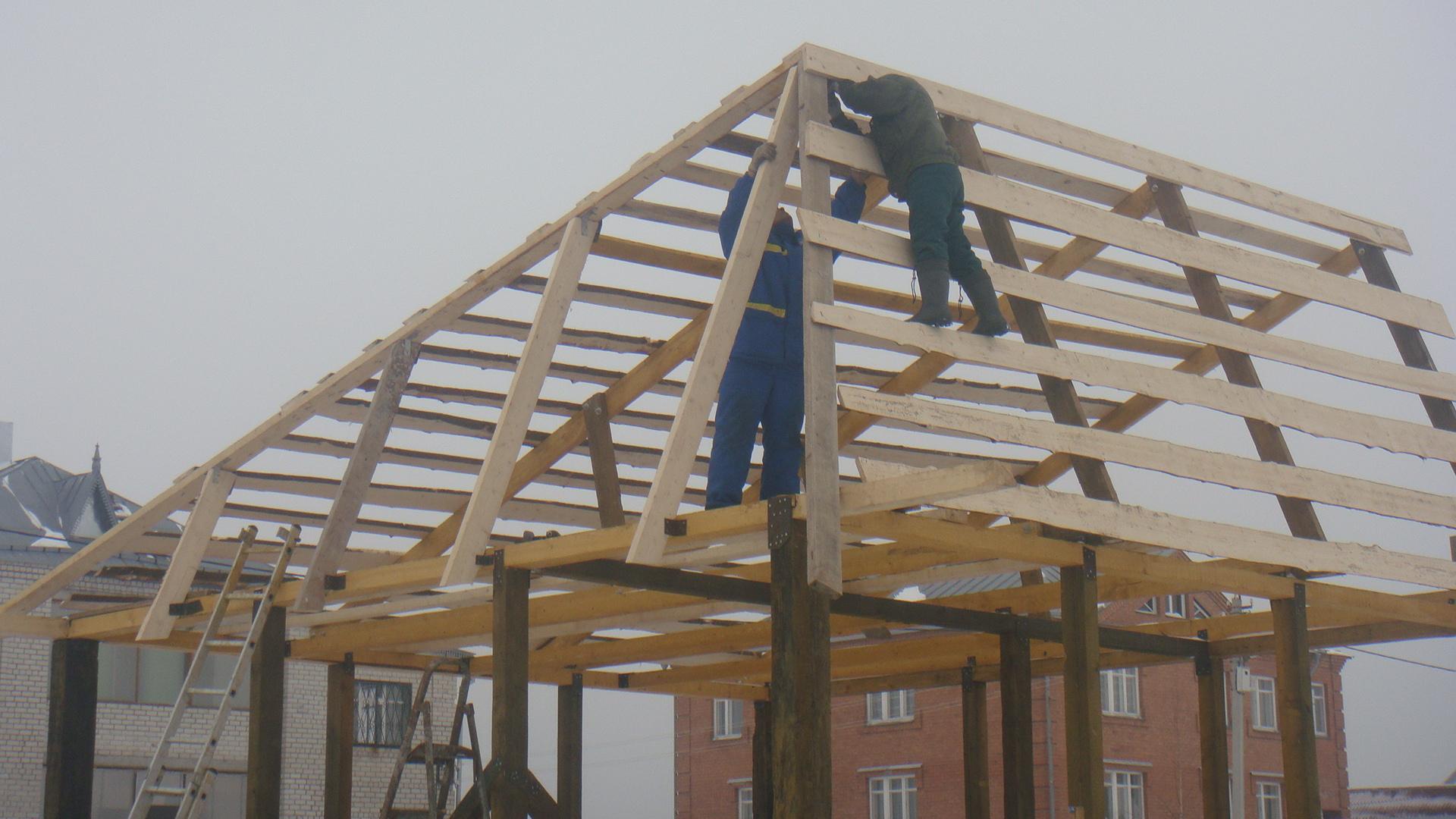Односкатная крыша для гаража: как сделать односкатку своими 82